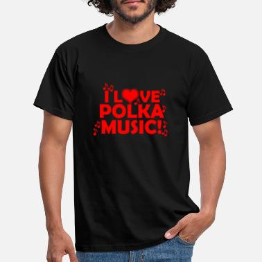 Polka Polka music - Men's T-Shirt