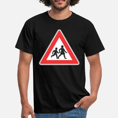 Road Sign Road sign people - Men's T-Shirt