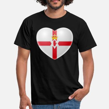 Northern Ireland Symbols Heart (Northern Ireland) - Men's T-Shirt