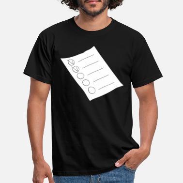Design bestillingsliste papir T skjorte for menn | Spreadshirt