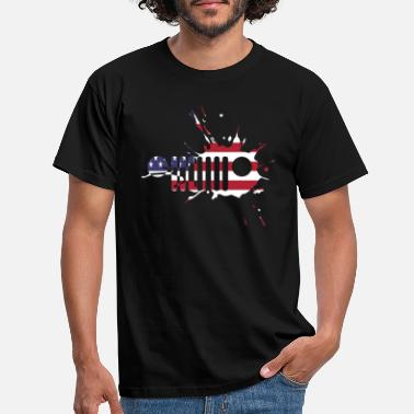 Jeep Mud Grill American Jeep - Men's T-Shirt