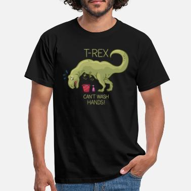 Rex T-Rex can't wash hands! - Männer T-Shirt
