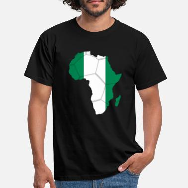 african_soccer_flag_of_nigeria - Men's T-Shirt