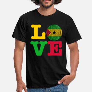Sao Tome And Principe SAO TOME PRINCIPE HEART - Men's T-Shirt