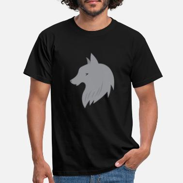 Grey Wolf Grey wolf face - Men's T-Shirt