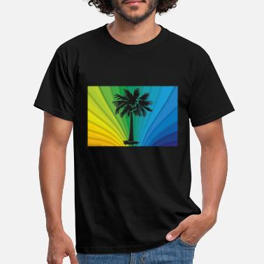 Dominican Republic Palm tree caribbean jamaica tropical colorful - Men's T-Shirt