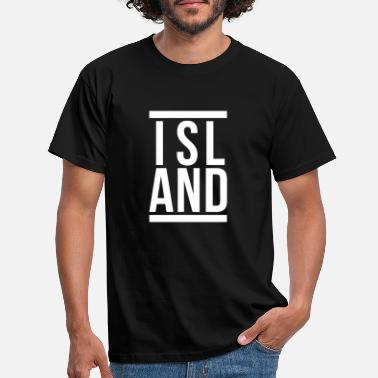 Iceland ICELAND text design - Men's T-Shirt