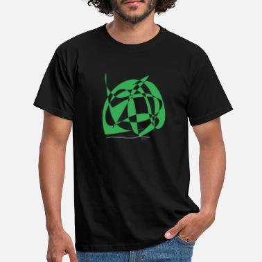 Basil Abstract design pasta with basil and sage - Men's T-Shirt