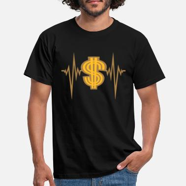 Media pulse heart rate dollar frequency symbol sign gel - Men's T-Shirt