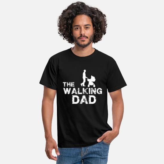 Dad T-shirts - The Walking Dad - T-shirt herr svart