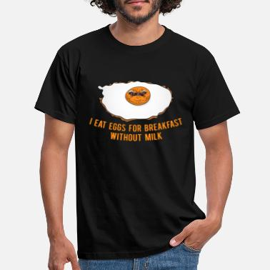 Egg Fried egg + text (colorful)! Gift idea! - Men's T-Shirt