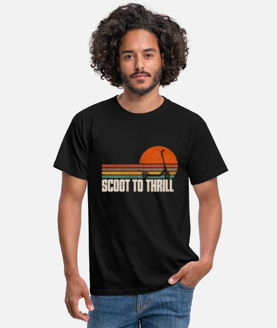 Trafik T-shirts - Scooter Electric Scooter Scoot till Trill Present - T-shirt herr svart