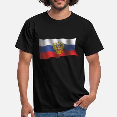 Flow FLOWING RUSSIAN NATIONAL FLAG WITH CREST OF ARMS - Men's T-Shirt