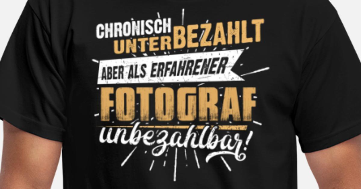 Edles Männer-Berufe-Shirt für den Fotografen Männer T