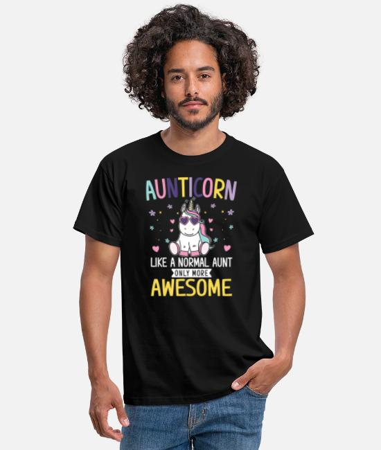 Gift T-skjorter - Aunticorn like a normal Aunt only more awesome - T-skjorte for menn svart