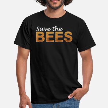 Save The Bees red de bijen png - Mannen T-shirt