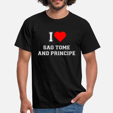 Sao Tome And Principe I love Sao Tome and Principe - Men's T-Shirt