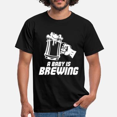 bd191e39 Baby Pappa En baby brygger - pappa, fremtidig pappa - T-skjorte for menn