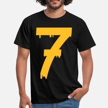 Sport lucky number seven - T-skjorte for menn