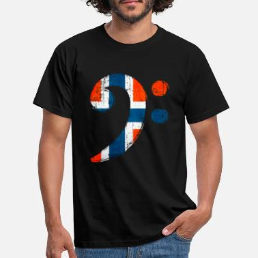 Bass Player Bass Clef Norway cadeau pour bassiste - T-shirt Homme