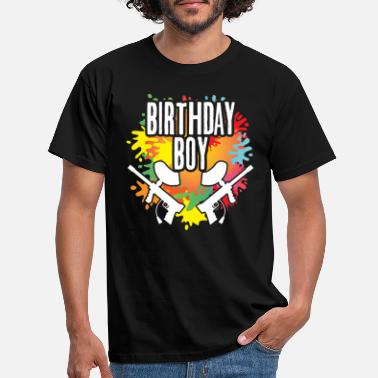 Paintball Paintball Birthday Boy Party Thema Farbspritzer - Männer T-Shirt