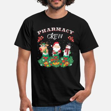 Crew Christmas Funny Pharmacy Crew Xmas Holiday Present - Men's T-Shirt