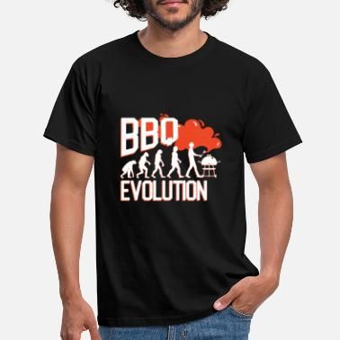 Grappig BBQ / BBQ Evolution Gift - Mannen T-shirt