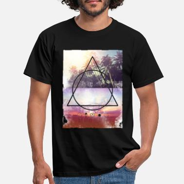 Travel SmileyWorld Miami Beach Palmen - Männer T-Shirt