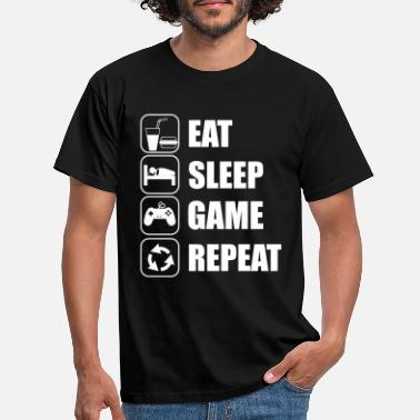 Jeux eat sleep game geek - T-shirt Homme