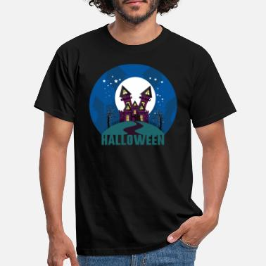 Haunted Halloween haunted house haunted house - Men's T-Shirt