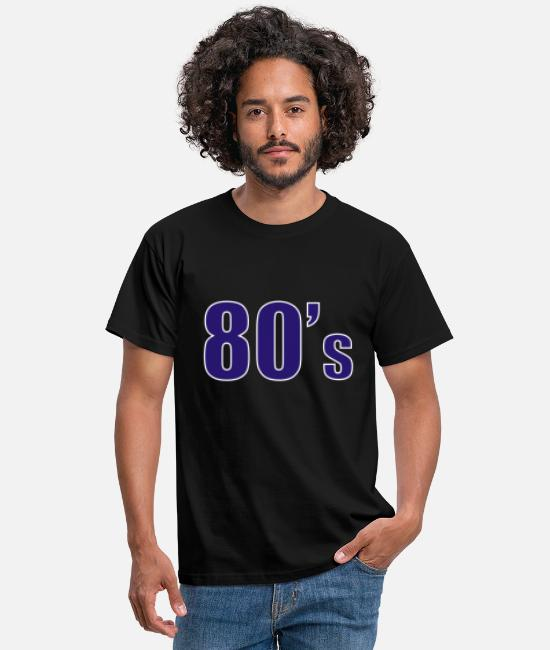 80s T-Shirts - 80s 01 t shirt - Men's T-Shirt black