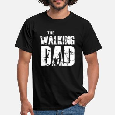 Walking The Walking Dad with stroller (white) - Mannen T-shirt