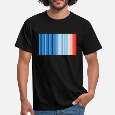 Warming Warming Stripes Global 2019 - Männer T-Shirt