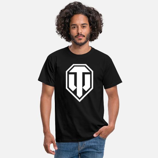Officialbrands T-Shirts - World of Tanks Logo White - Men's T-Shirt black