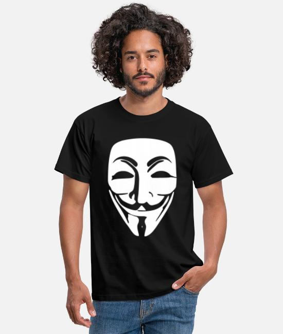Hacke T-shirts - anonymous - T-shirt mænd sort