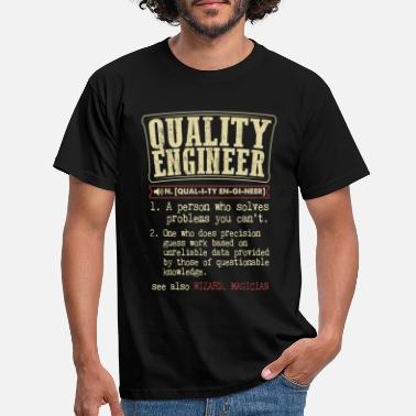 Dictionary Quality manager engineer funny dictionary - Men's T-Shirt