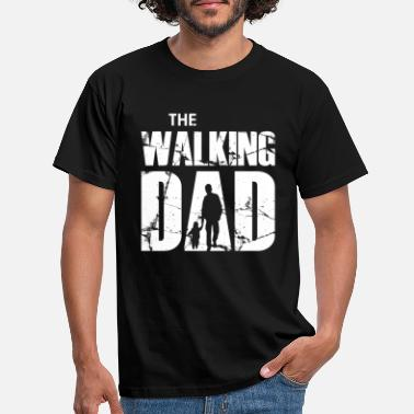 Vader Dochter The Walking Dad (white) - Mannen T-shirt