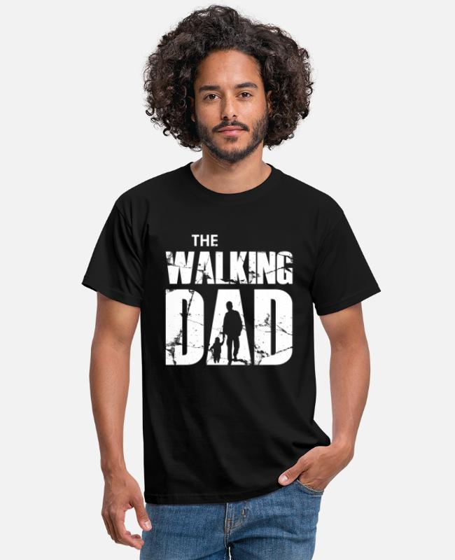 Walking T-shirts - The Walking Dad (white) - Mannen T-shirt zwart
