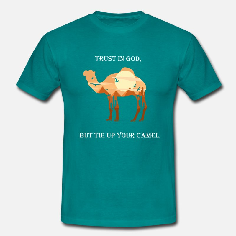 Kamel kamel sitat Kontrast T skjorte for menn   Spreadshirt