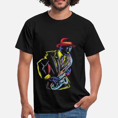 Jazz Saxofoon Saxofonist Instrument Jazz Marching - Mannen T-shirt