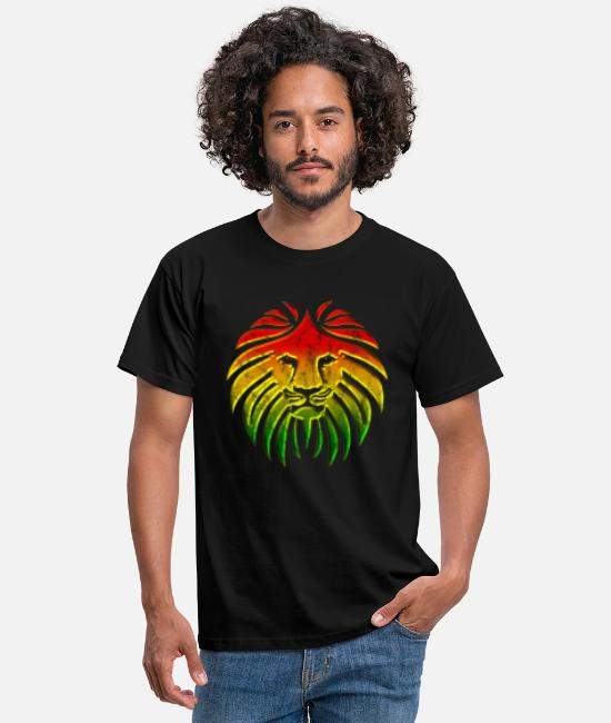 Dancehall T-Shirts - LIKE A LION, Reggae Music Lion, Rasta Revolution, - Men's T-Shirt black