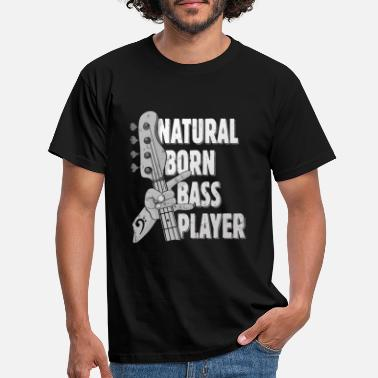 Metallgaffel Natural Born Bass Player Gave til bassist - T-skjorte for menn