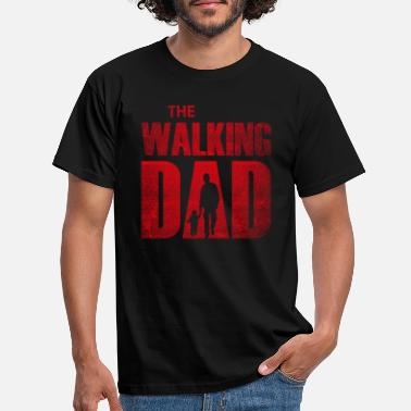Walking Dad (röd) - T-shirt herr