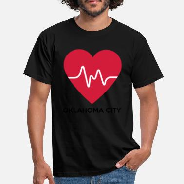 Oklahoma City Hjerte Oklahoma City - T-skjorte for menn