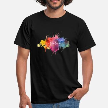 Creative Colors Design - Splatter with Text - Männer T-Shirt