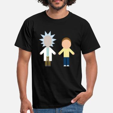 Rick Rick And Morty Serienhelden Chibi Stil - Männer T-Shirt