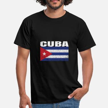 Bandera Kuba Land Vintage Cuban National Flag Gift - T-shirt herr