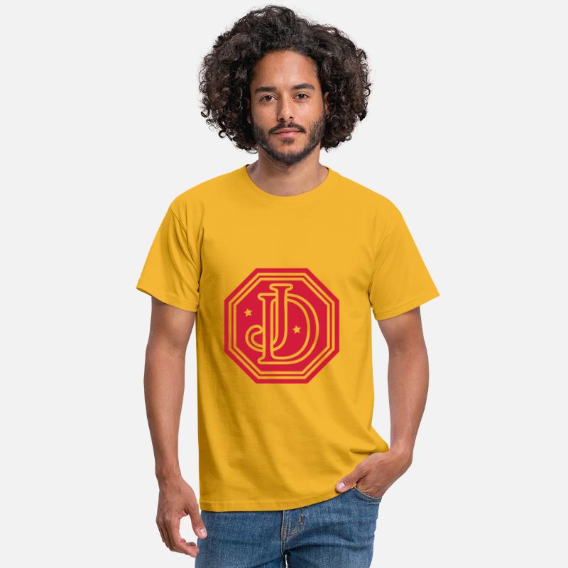 Jd Monogram Camiseta Amarillo Letters Hombre USVpzMq