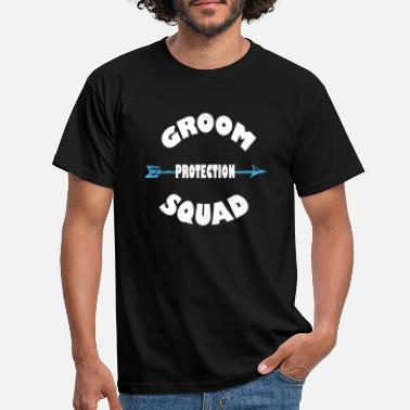 Groom To Be Groom Protection Squad - Funny Grooms Bachelor - T-skjorte for menn