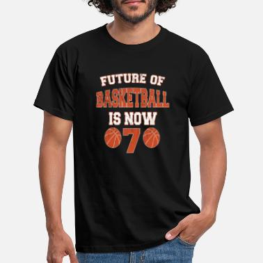 Seven Future Of Basketball Is Now 7 - Kids 7th Birthday - Men's T-Shirt